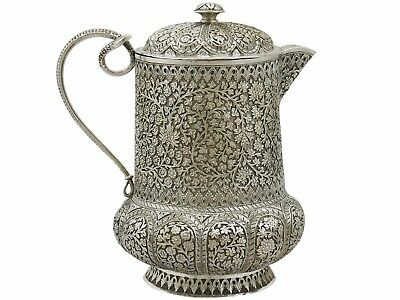 Antique Indian Silver Water Jug 1880s