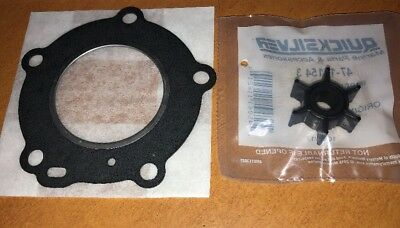 Cylinder Head Gasket & Impeller for Mercury Mariner 4HP 5HP 2-Stroke Outboard