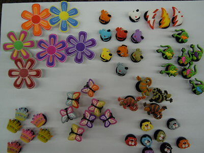 New - Assorted Jibbitz -  100 Fun And Assorted Crocs Charms    $15.00