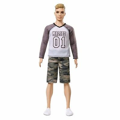 Barbie Ken Fashionistas Broad Doll 8 Camo Comeback / Worldwide Free Shipping