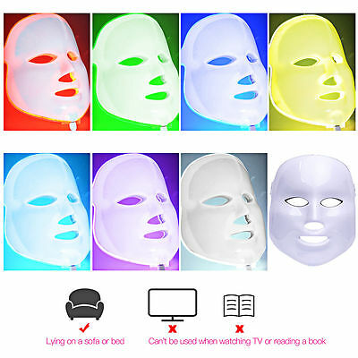 Skin Rejuvenation LED 7 Colors Facial Mask Wrinkle Acne Removal Face Beauty Mask