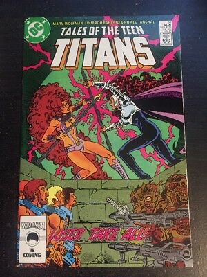 Tales Of Teen Titans#83 Incredible Condition 9.4(1987) Barreto Art!!