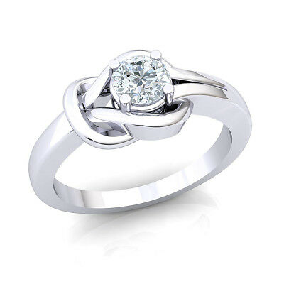 0.25ct Round Diamond 10K White Gold Ladies Forever One Solitaire Engagement Ring