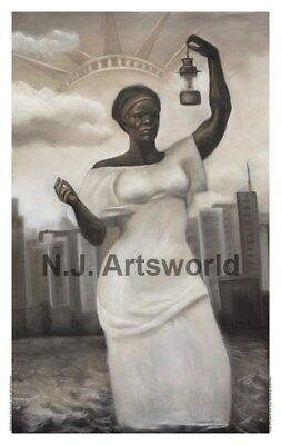 Original Statue of Liberty Giclee. By Laurie Cooper. 24x39 size