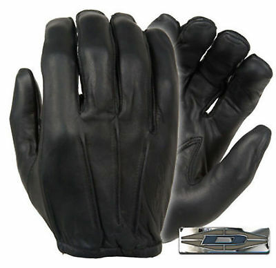 Damascus D20P Police Security Guard Officer Black Leather Search Gloves LARGE