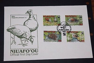 Niuafo Ou 1992 Birds Set Of 4 On First Day Cover  Fine M/n/h