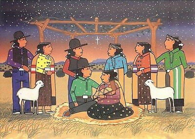 12 Native American Holiday Cards by Anthony Emerson (Nativity)