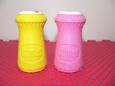 Set Of 2 Rare Vintage Comet Cleanser 6 Oz  Pink & Yellow Made In USA New Sealed