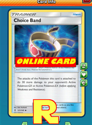 2x Choice Band -  for Pokemon TCG Online (DIGITAL ptcgo in Game Card)