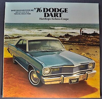 1976 Dodge Dart Catalog Sales Brochure Sport Swinger Excellent Original 76