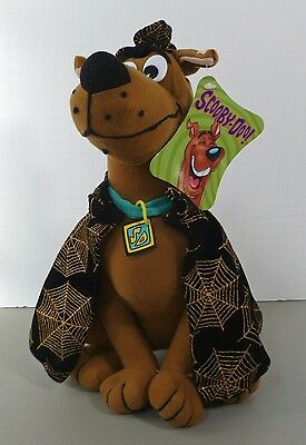 """Rare With Tags Vintage SCOOBY DOO Plush Toy Collar Cape Hat NWT Collectible 12"""""""
