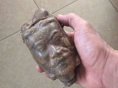 Old Antique Chinese Terracotta Army Warrior Head Statue