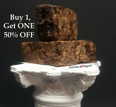 Raw African Black Soap 4 oz. Bar 100% Unrefined Pure Natural Organic From Ghana