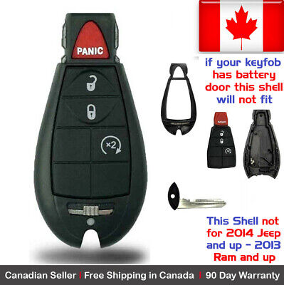 1x New Replacement Keyless Remote Key Fob Case For Dodge Caravan RAM Shell Only