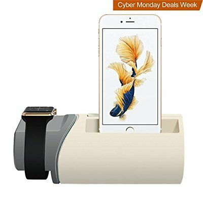 Charging Stand for Apple Watch, Upow 2 in 1 Charging Station Dock for iPhone 7/