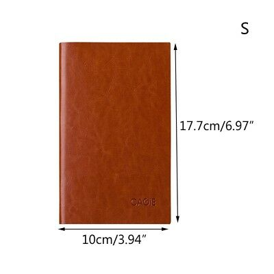Paper Notebook Pure Color A5/A6 Notepad Journal Office Faux Leather Sketchbook