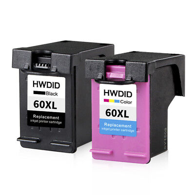 60XL Ink Cartridge Combo Black Colorful For HP 60 Photosmart D110a F2480 F2430