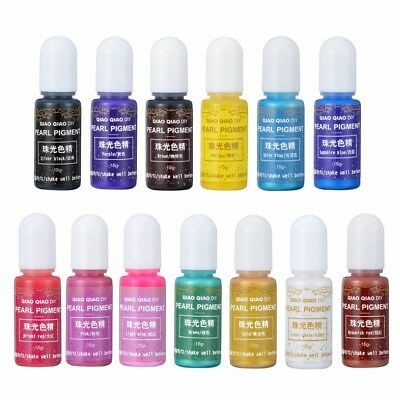 13 Colors Pearly-lustre Pigment Epoxy UV Resin Coloring Dye Colorant Art DIY 15g
