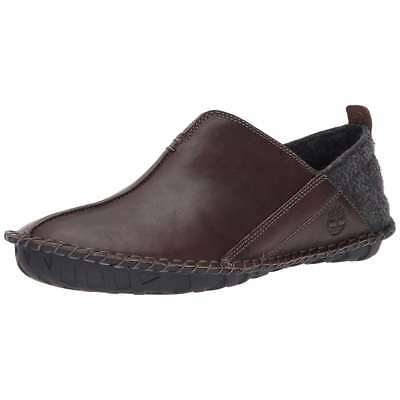 Mens Timberland Slippers Front Country Lounger Leather Slip On Shoes BRown NEW