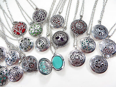 US Seller-30 pieces jewelry cheap necklaces aromatherapy essential oil perfum