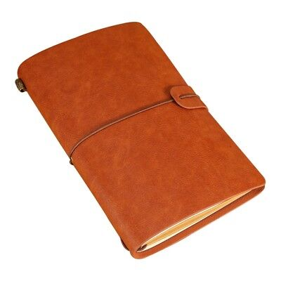Paper Notebook Portable Notepad Journal Strap Sketchbook With Card Phone Pocket