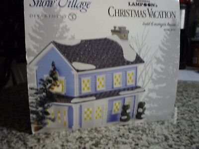 2014 TODD & MARGO'S HOUSE (Lampoon's Christmas Vacation) Snow Village, MINT