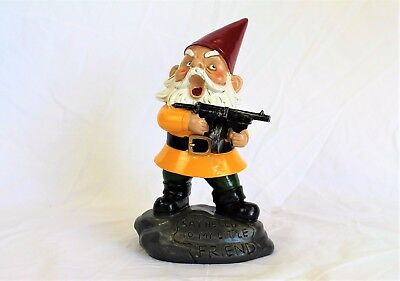 The Angry Little Garden Gnome Statue Poly Resin 9 inches Novelty Bigmouth Inc