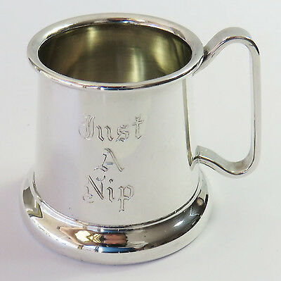 Vintage Perfection Silverplate Small Shot Mug/Cup for Spirits/Sherry, Just A Nip