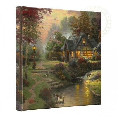 Thomas Kinkade Cottages 14 x 14 Gallery Wrapped Canvases (Set of 2 or Set of