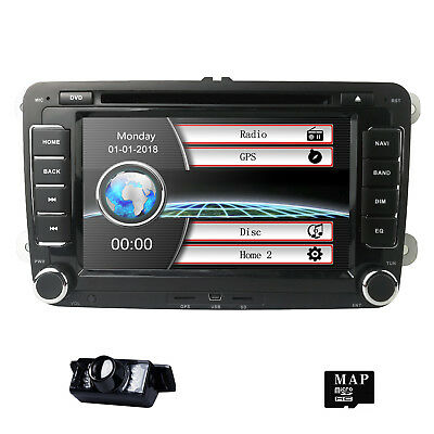 For VW Golf MK5 MK6 Passat Jetta Radio DVD Player GPS Navi Stereo Bluetooth 2DIN
