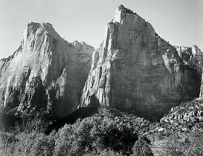 ZION NATIONAL PARK, UTAH By Ansel Adams Giclee Fine Art Repro 18.5x24