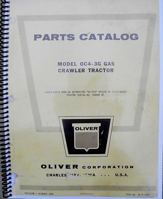 Shop Manual for Oliver OC-4, OC-46 - covers all aspects - service, assembly etc.