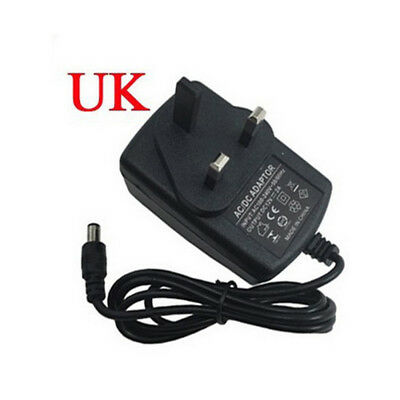 24W AC/DC 12V 2A Power Supply Adaptor 3 PIN UK Plug For 5050 DEL Lights Strips