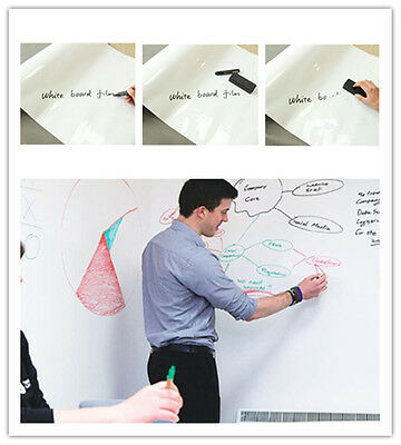 "60""x20"" Self-adhesive Dry Erase Message Whiteboard Decal for Home and Office"