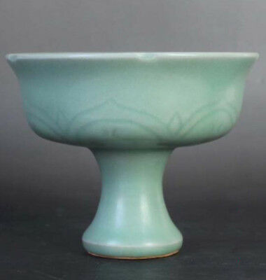 265 Chinese Old Song Longquan Kiln Porcelain Bowl /H10 x D13cm/高足碗