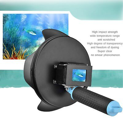 """Shoot 6"""" Handheld Underwater Diving Dome Port Camera Case Cover for GoPro 4 3+"""
