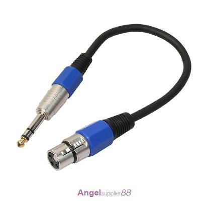 "3P XLR Female Jack to 1/4"" 6.35mm Male Plug Stereo Microphone Adapter Cable"