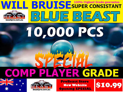 10,000 GEL balls PRO GRADE Beast WILL BRUISE HARDENED BLUE 7-8mm GEL GUN AMMO💥