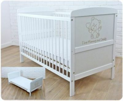 Wooden Baby Cot Bed & Mattress ✔Converts to Junior Bed size 120x60 - I love...