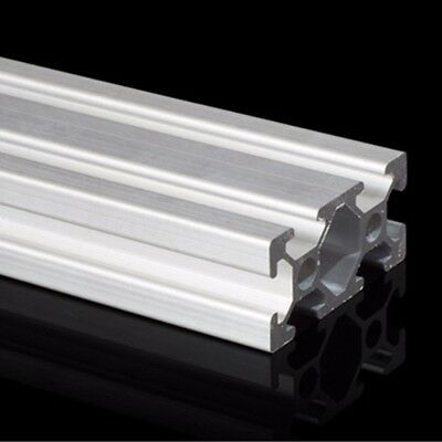 2040 T-Slot Aluminum Profiles Extrusion Frame 500mm Length 3D Printer CNC Silver
