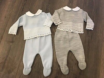 Baby babies boy boys girl girls outfit 2 piece pale blue leggings & top blue
