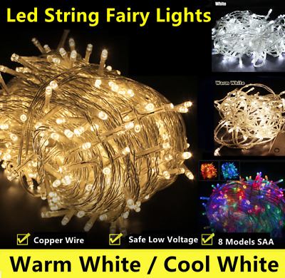 500LED Warm/Cool White Fairy Christmas String Strip Lights Wedding Party