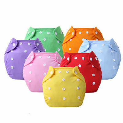 Unisex Reusable Size Adjustable Washable Leakproof Baby Cloth Diaper Nappy UHL