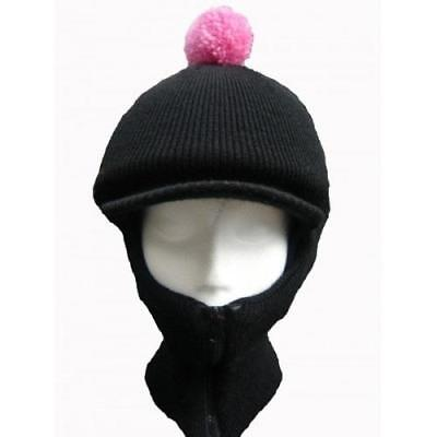 Equestrian Woolly Hatclava balaclava Over Riding Hat,Horse Pony, Diff Col PomPom