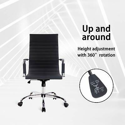 Ergonomic Computer Gaming Chair Racing Recliner Office Leather Seat Footrest US