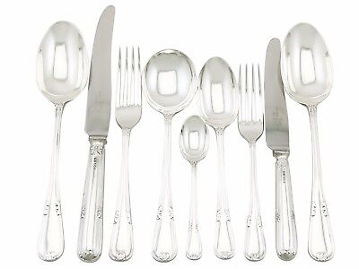 Sterling Silver Canteen of Cutlery for 6 Persons by Walker & Hall Sheffield 1956