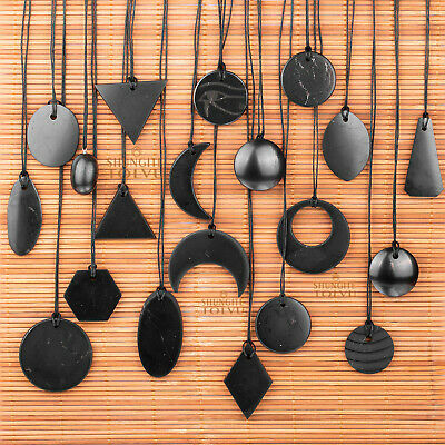 Pendants of genuine rare Shungite stone EMF and geopathic stress protection
