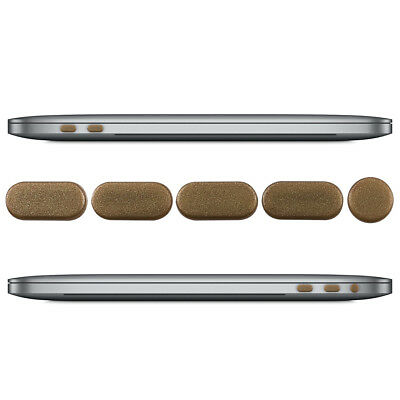 """Dust Protection Set For Apple Macbook Pro 13"""" 15"""" (From 2016) Touchbar Gold Plug"""