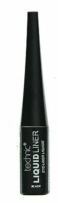 Technic Liquid Eyeliner - Black Thin Brush Precision Liner Eyes Draw UK Seller