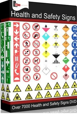 Over 7600 Health And Safety Printable Warning Signs & Posters on DVD / CD